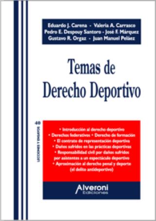 Temas De Derecho Deportivo